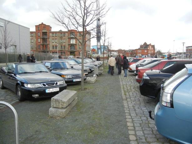 Outside Saab Treffen Bremen