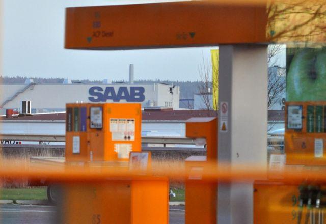 Blick aus dem Max direkt auf das Saab Werk