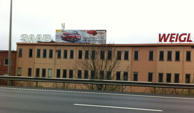 Бывший завод по производству Saab Gothenburg 2011