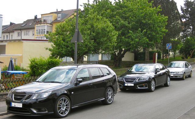 Saab TurboX, Saab 9-5 XWD und Saab 9-3 Force in Bamberg