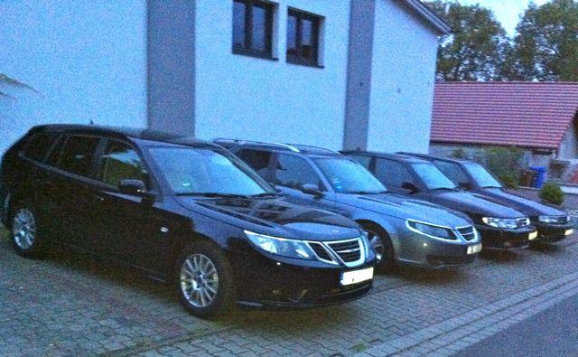 Saab 9-3 und Saab Anniversary Modelle von 2007, 2002, 1997