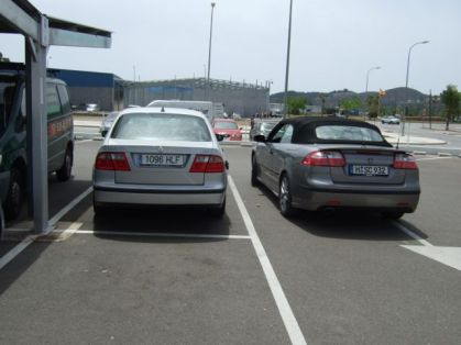 Saab 9-3 Cabriolet and Saab 9-5 in Andalusia. Photo R. Röber