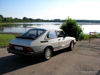 Saab 900 an der Donau. Foto Renato