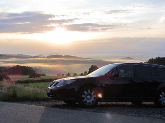 Saab 9-3 Sport Combination Impressions Bosque bávaro. Foto de cristian