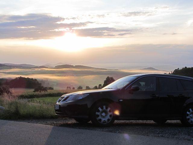 Saab 9-3 Sportkombi Impressionen Bayrischer Wald. Foto von Christian