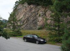Saab 9-3 en Noruega. Foto de erik.