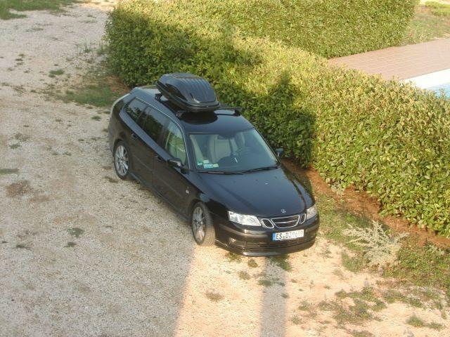 Saab 9-3 Sportkombi in Istrien. Foto von Peter.