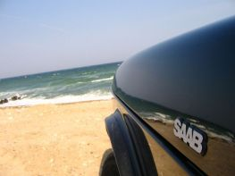 Saab 900 en el Mar Báltico. Foto de Stefan