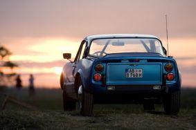 Saab Sonnet V4 en el camino Suecia. Foto de Ralf.