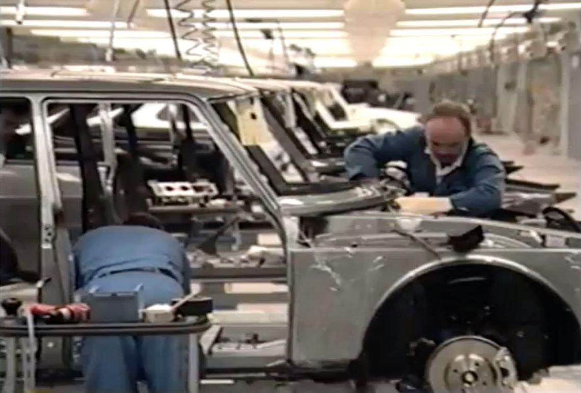 Fábrica da Saab em Malmo 1989