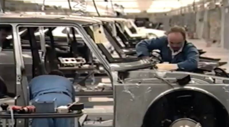 Saab plant in Malmo 1989