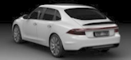 Castriota Saab 9-3 Nachfolger. Typisches Saab Schraegheck.