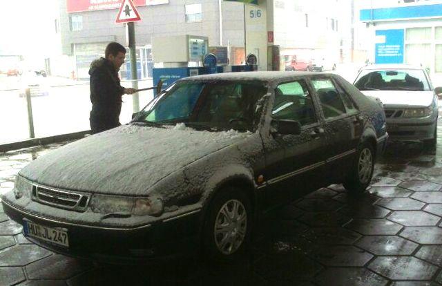 Saab 9000 Rettung: Gestern im verschneiten Hanau