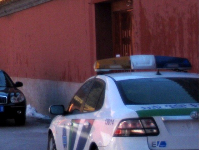 Polisen Saab 9-3 i Peking