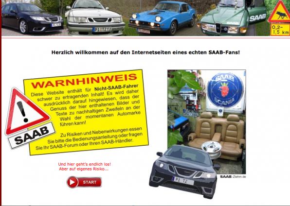Saab Team - Homepage von Thorsten