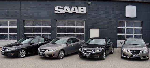 Saab 9-5 II Limousinen Parade bei Saab Service Kiel