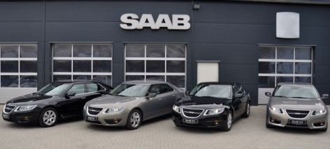 Parata in limousine Saab 9-5 II al Saab Service Kiel