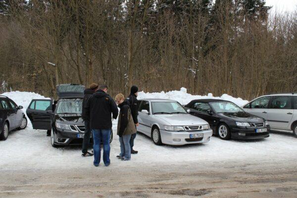 Teilnehmer der letzten SAAB Ausfahrt im Harz