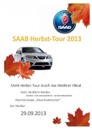 Uscita autunnale SAAB degli amici del SAAB di Dresd 2013