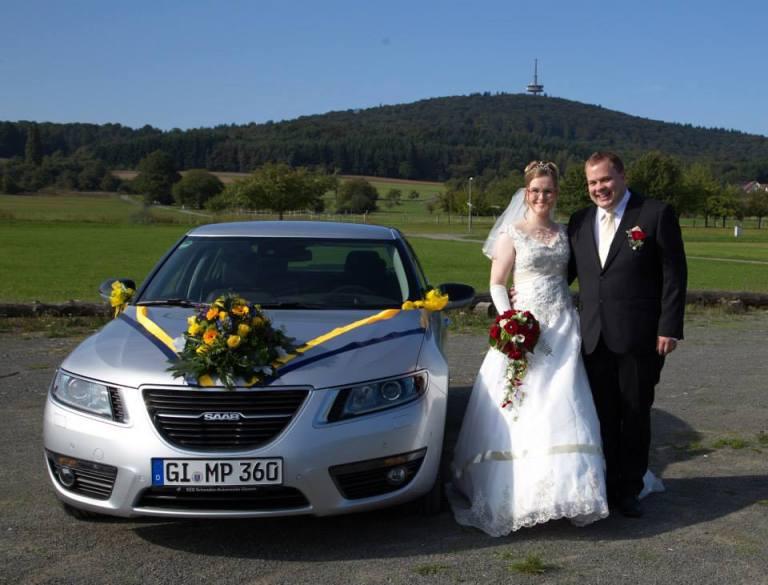 Casamento de Marcus e Manuela com Saab 9-5 II