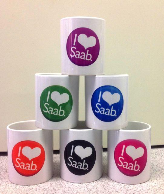 I love Saab Revival. Saab Tassen in allen Farben.