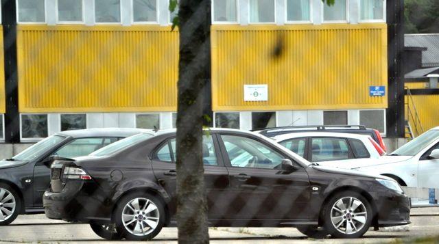 Saab 9-3 i Griffin Trim på fabrikens lokaler