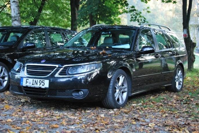 Saab Treffen Bayerischer Wald 2013. Der 9-5 von Wolfgang...