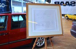 Bjoern Envall Saab Entwurf auf der Nordi Car Classic
