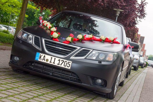 Saab 9-3 als Hochzeitsauto