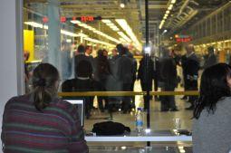 Vista do centro de imprensa sobre a produção