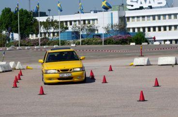 Parcours am Saab Werk