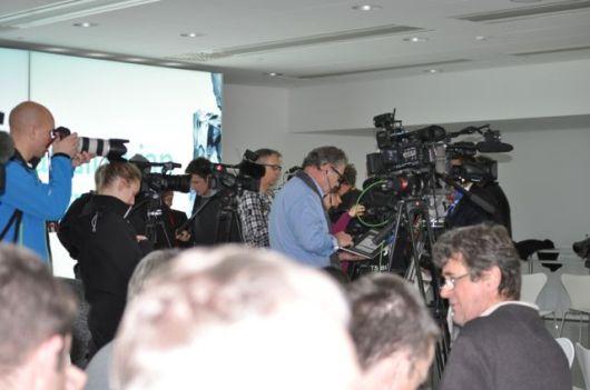 Centro de prensa Saab