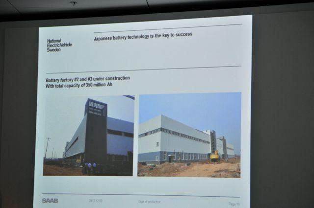 El número de Battery Factory 2 y 3 están en construcción @ 2014 saabblog.net