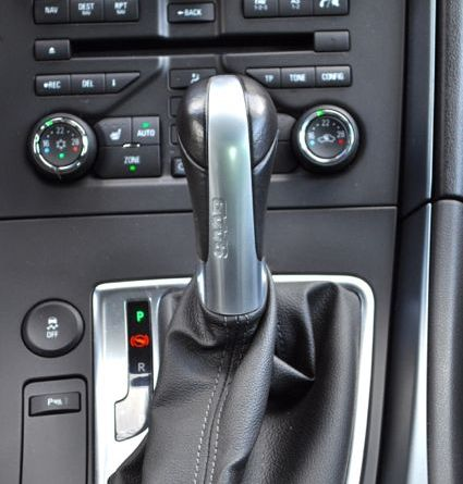 Detail: Shift lever with Saab lettering © 2014 saabblog.net