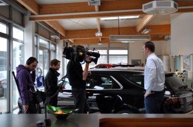 Съемка в автосалоне Saab © 2104 saabblog.net