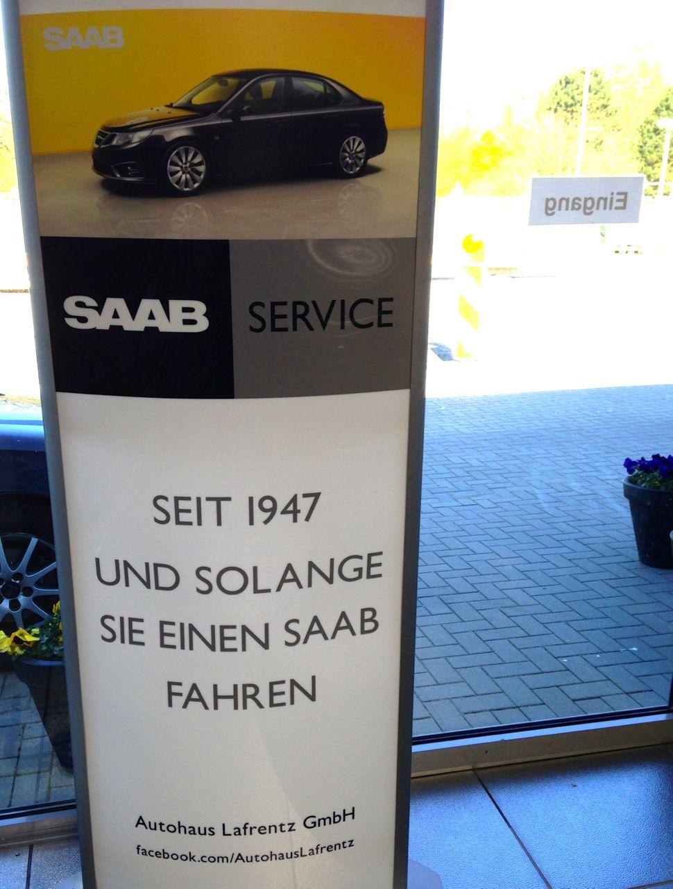 Neue Saab CI, eine Idee fuer andere Saab Partner?