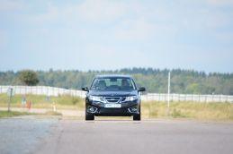 Saab 9-3 EV prototype، test track Trollhattan © 2014 NEVS