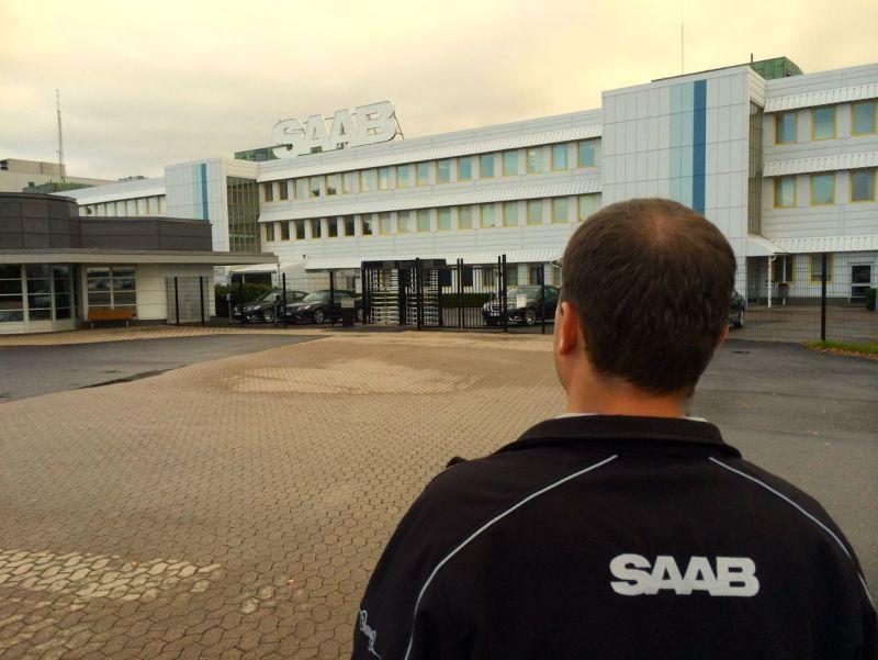 Hoffnungsvoller Blick auf das Saab Werk ©2014 saabblog.net