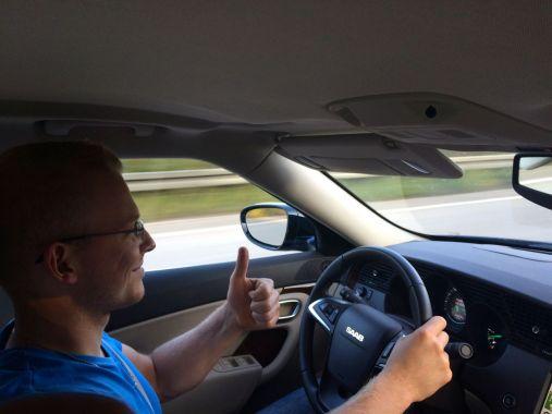 Condução Saab faz feliz © 2014 saabblog.net