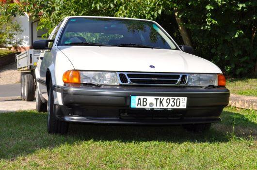 Saab 9000 CS, 1993. Met trailer. © 2014 saabblog.net