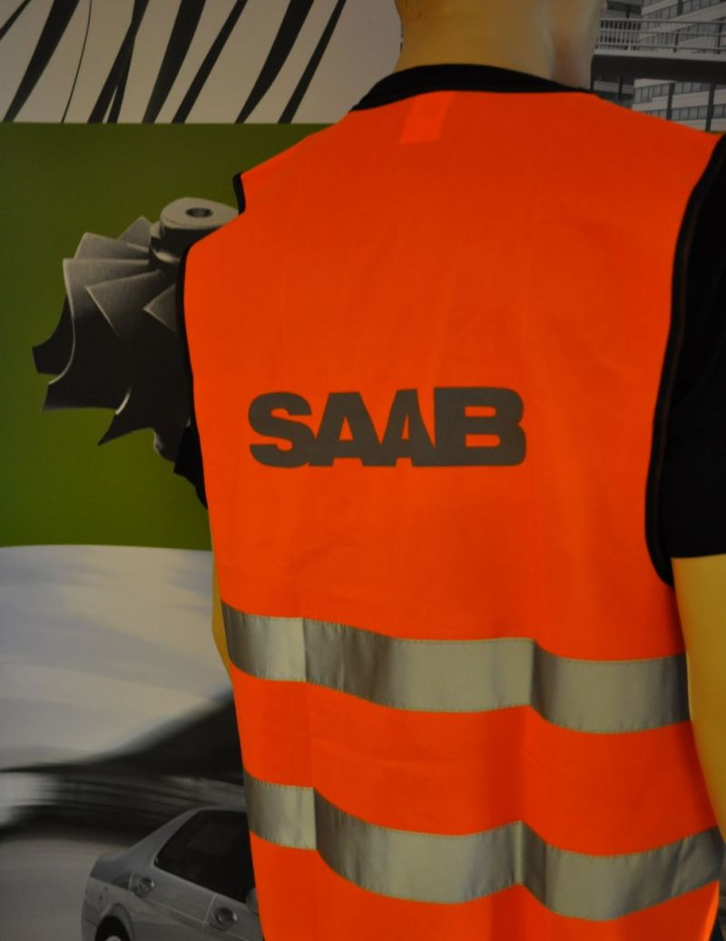 Saab Warnweste orange ©saabblog.net