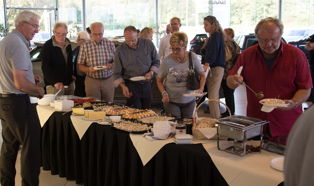 The finale of a great day,  a Swedish buffet. ©2014 saabblog.net