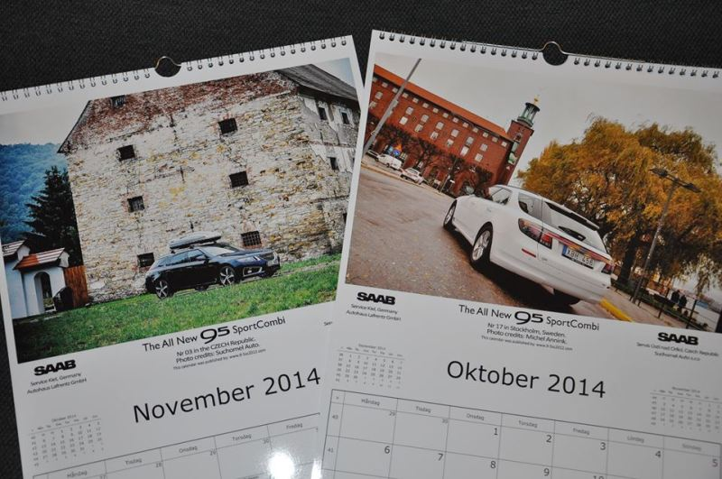 The 2014 SAAB 9-5 NG SportCombi calendar; the new edition is coming!