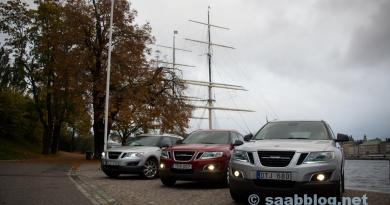 US-spec Aero MY11 #165, US-spec Aero MY11 #2 och EU-spec MY12 Premium #5 i Stockholm