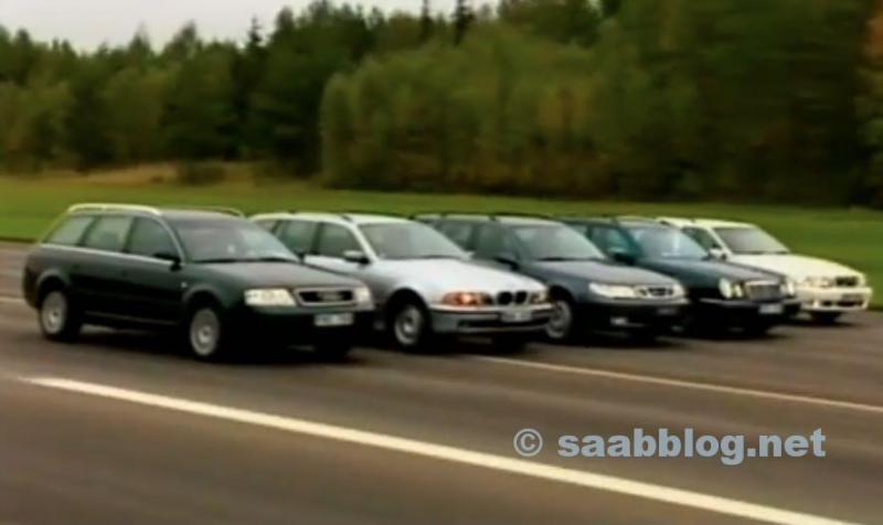 SAAB 9-5 vs 5er BMW, Mercedes E Klasse, Audi A6, Volvo V70.
