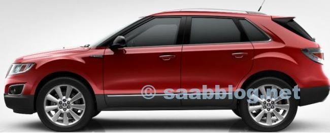 """Saab 9-4x, rouge cristal métallisé, 20 """""""