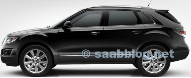 Saab 9-4x, Zodiac Black Metallic, 20 ""