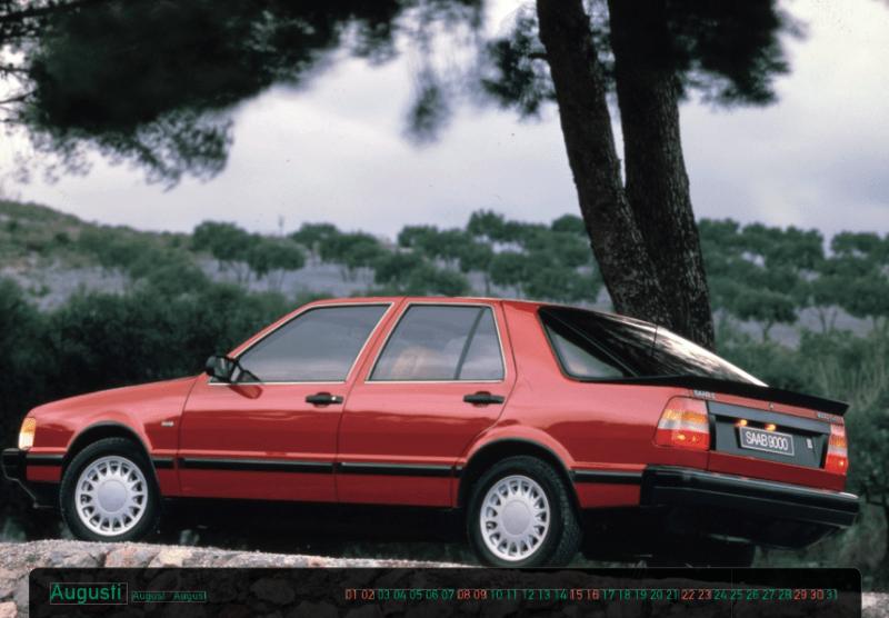 Saab 9000 Kalender mit Kalendarium im 9000er Style