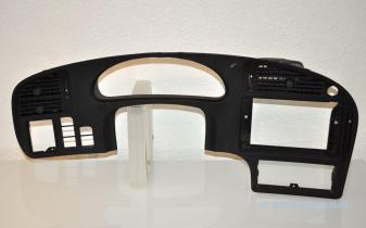 Saab 9-5 хромированные панели приборов из углеродной кожи