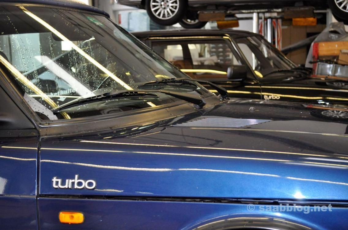 Turbo - clássico Saab em Frankfurt